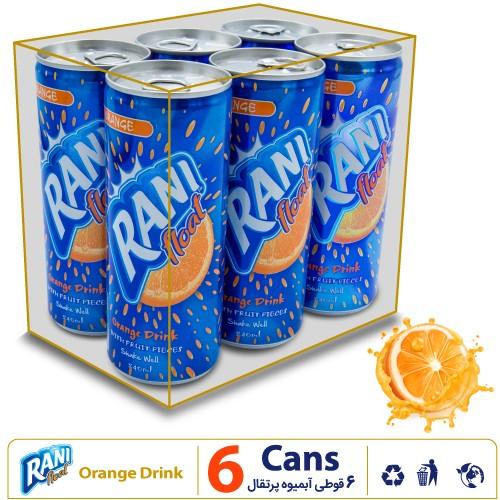 نشان پک 6 قوطی رانی آبمیوه پرتقال
